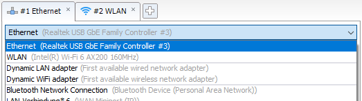 Network adapter selection