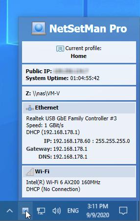 NetSetMan Help File: English | Network Settings Manager for