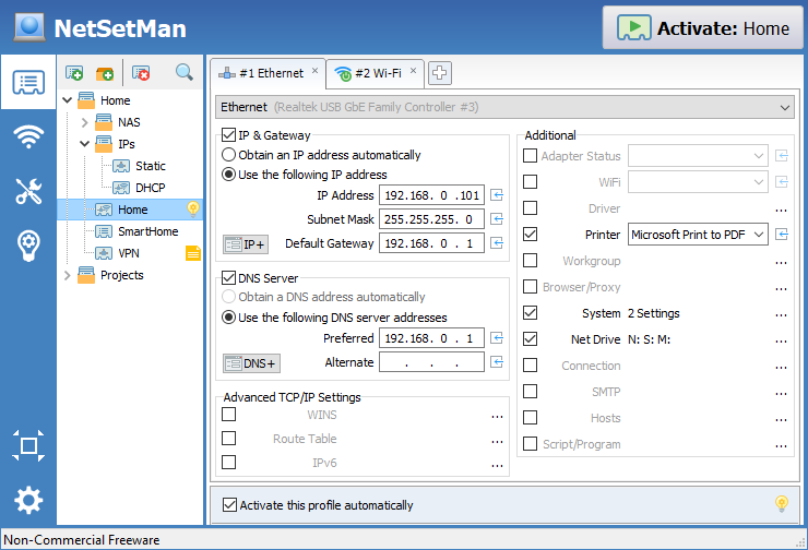 NetSetMan Screenshot