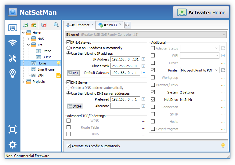NetSetMan 3.6.0 Free Download