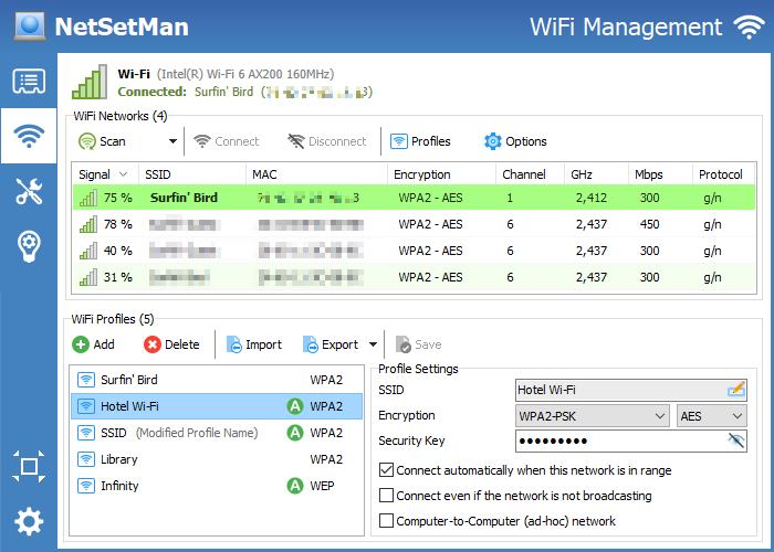 NetSetMan screenshot