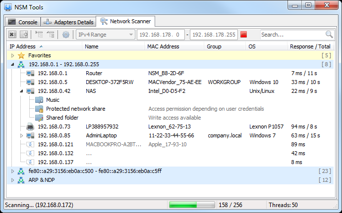 NSM Tool - Network Scanner